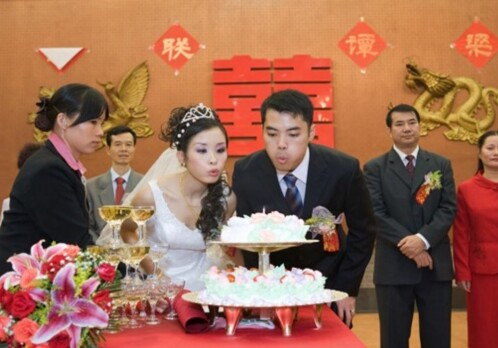 Chinese lesbian women in facade marriages