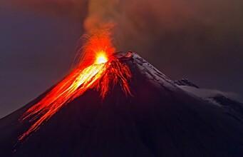 Volcano opened the ocean