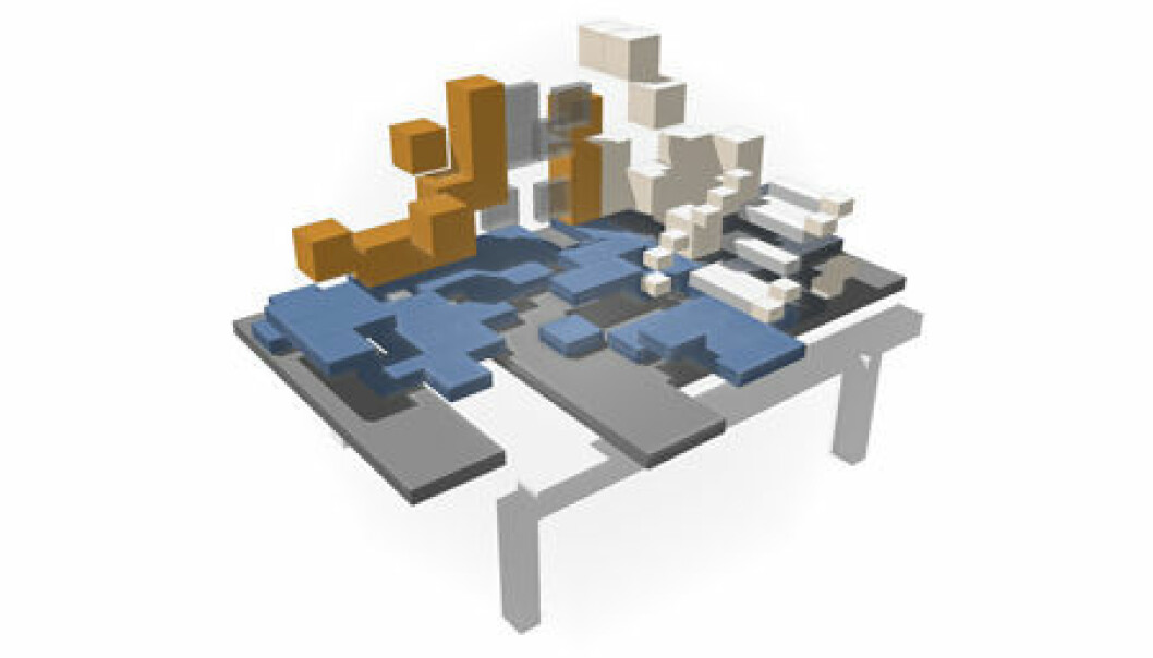 A generative system could generate a large number of different building models very quickly. (Illustration: AHO)