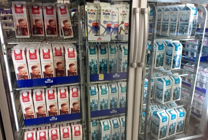 Norske butikker kaster mindre mat enn mange antakelig tror. Melkeprodukter kaster butikkene nå lite av.  (Foto: Bård Amundsen/forskning.no)