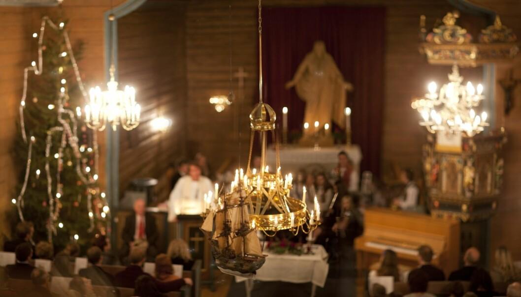 Går folk på julegudstjeneste fordi de tror på det eller bare fordi det er tradisjon? (Foto: Jonas Frøland, NTB scanpix)
