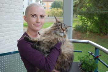 Møtet med Cilje Liane ble sterkt. Hun fikk livmorhalskreft før vaksinen mot HPV-viruset som forårsaker sykdommen, ble innført. (Foto: Anne Lise Stranden, forskning.no)