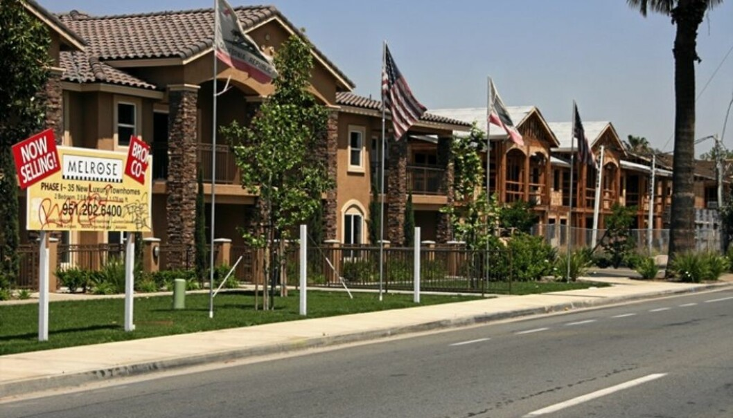 Houses for sale in Los Angeles, 2008. (Photo: Gry Winther/NTB scanpix)