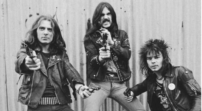 """Den klassiske utgaven av Motorhead: """"Fast Eddie"""" Clarke, Ian """"Lemmy"""" Kilmister og Phil """"Philthy Animal"""" Taylor. (Reklamebilde)"""
