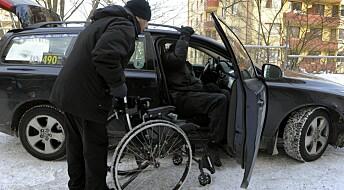 Transport-ordninger for funksjonshemmede fungerer dårlig