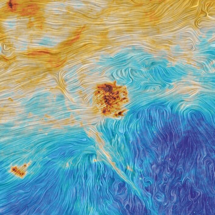 Den store magellanske skyen, sett av Planck. (Foto: ESA)