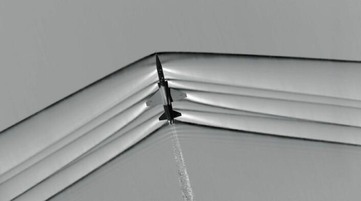 jaherfly over Mojave-ørkenen. (Foto: NASA)