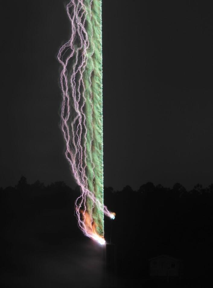 Lyn-bilde fra forskergruppen i Florida. (Foto: Florida Lightning Research Group)