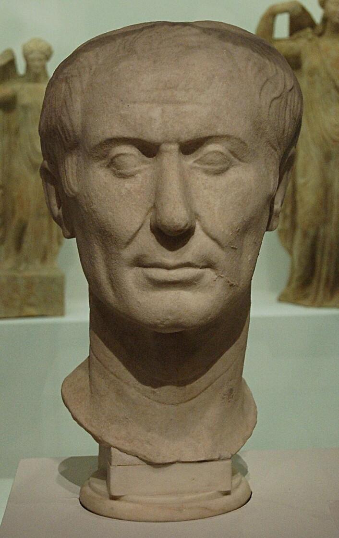 Byste av Gaius Julius Cæsar. (Foto: Gautier Poupeau/CC BY 2.0)