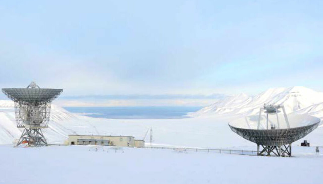 The Birkeland Centre for Space Science has a research outpost on the Svalbard islands, in the Arctic. From here they conduct trials to observe electric currents in space. (Photo: Kim E. Andreassen)