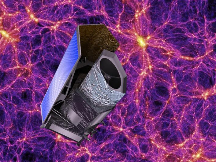 Euclid skal undersøke effekten av mørk materie og mørk energi på mer enn 2 milliarder galakser. Det europeiske romteleskopet skal skytes opp i desember 2020.   (Foto: ESA)