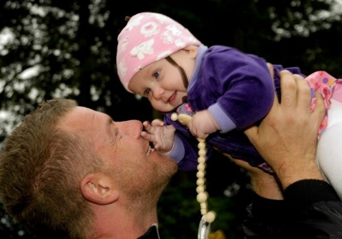 A nurturing father has a positive influence on a child's development
