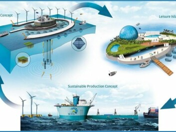 Scientists are designing platforms to combine industry and harbour activity with renewable energy, aquaculture and leisure. (Illustration: TROPOS)