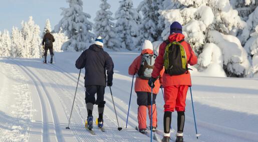 Nordmenn mindre aktive enn andre skandinaver