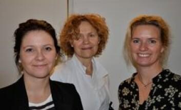 Ragnhild Justad-Berg (t.v), Anne Eksild, og Ellen Marie Strøm-Roum har for første gang benyttet tall fra Abortregisteret for å se hvor mange kvinner som tar abort flere ganger i Norge. (Foto: Ahus)