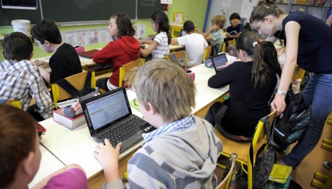 Under 10 prosent bruker datamaskin på skolen daglig