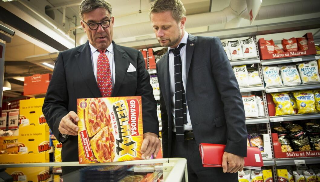 Helse- og omsorgsminister Bent Høie skal slanke Norge ved å kutte i fett i matvarer. Stein Erik Hagen er en av rådgiverne i Høies næringslivsgruppe. (Foto: Terje Bringedal, VG)