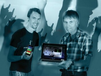 Kristian Nymoen and professor Jim Tørresen. (Foto: Yngve Vogt/Hanne Utigard/Colourbox)