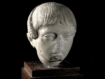 "Sculpture of a Roman boy with his hair worn in the Egyptian style with a ""lock of Horus"". The side-lock of hair was cut off and dedicated to the gods in connection with the coming-of-age ceremony marking the transition to adult life. From the first half of the second century CE. Museum of Cultural History, Oslo. (Photo: Museum of Cultural History)"