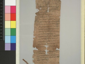 A father, Ophelas, requests that his underage son, Pakhois, be registered as an apprentice in the tax lists for the weaving industry. The document is dated 11 June in the year 70 CE. (Photo: Papyrus Collection, University of Oslo Library)
