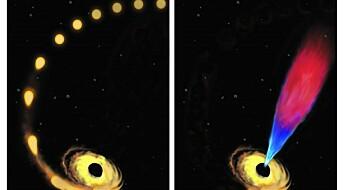 Dette sorte hullet «raper» stjernerester