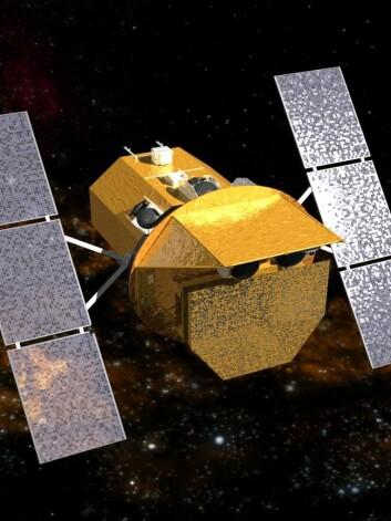 Ved hjelp av NASAs Swift-satellitt kunne forskerne se hvordan det sorte hullet sugde til seg stjerna og rev den i stykker.  (Foto: NASA)