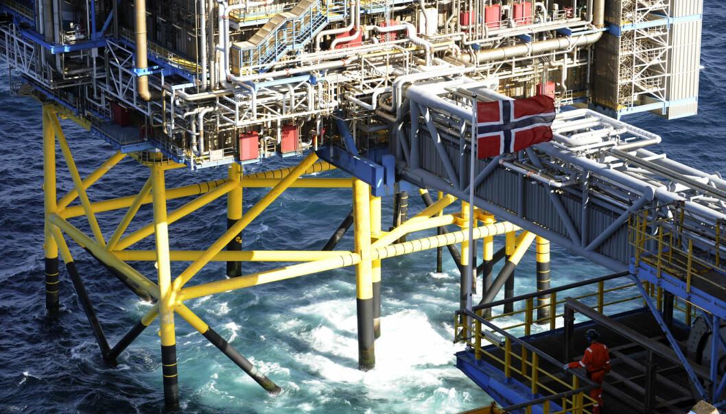 Under Sleipner-plattformen i Nordsjøen er det blitt lagret CO2 i grunnen lenger enn noe annet sted i verden.  (Foto: Marit Hommedal, NTB scanpix)