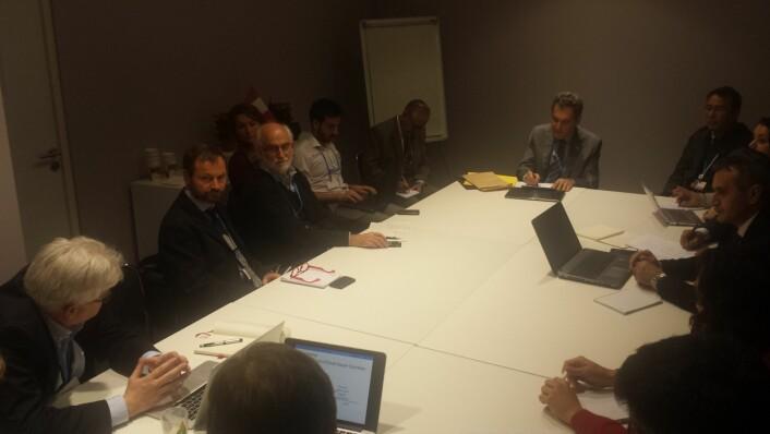 Møte i Peru-møterommet. (Foto: Helge M. Markusson)