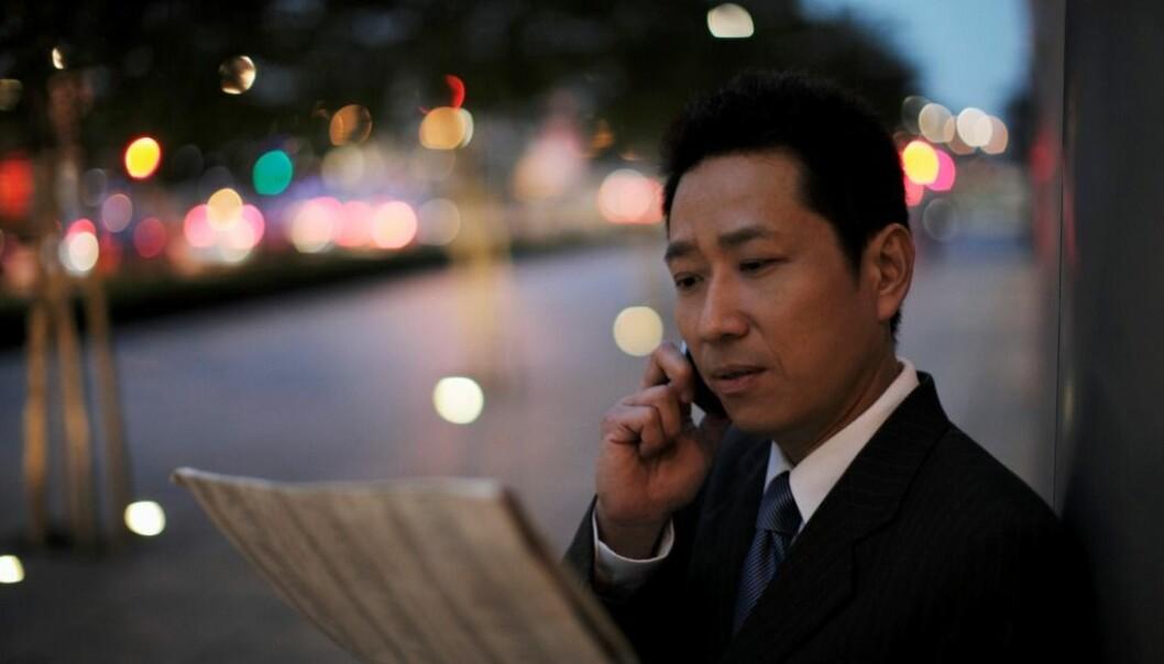 Den pent kledde, rike og vellykkede mannen er i ferd med å bli idealet for kinesiske menn.  (Illustrasjonsfoto: Alex Mares-manton/Corbis/Scanpix.)