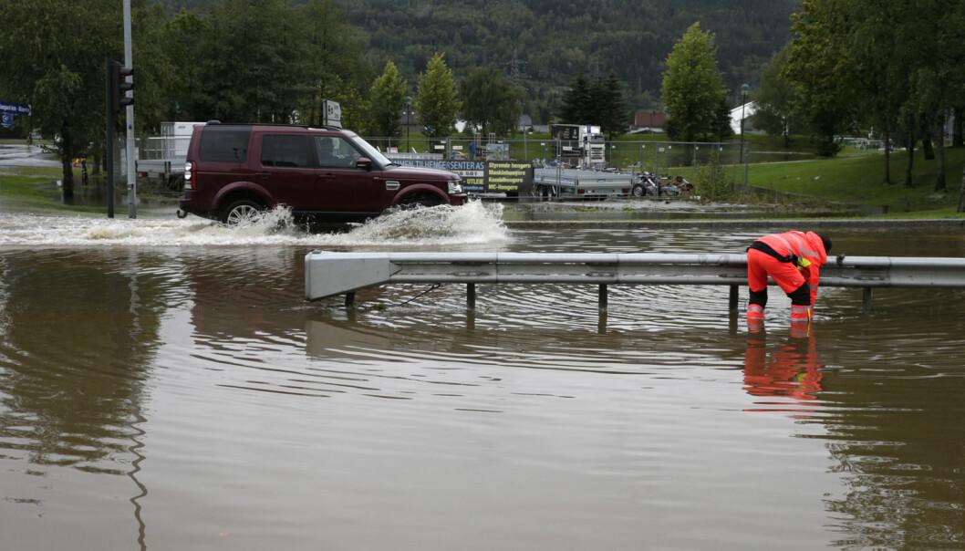 Enorme vannmengder skapte store problemer i Drammen i september i år.  (Foto: Vidar Ruud, NTB scanpix)