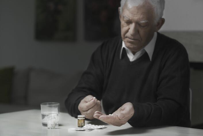 Antidepressive medisiner må ofte tas i flere uker før de har en gunstig effekt. Bivirkningene kommer derimot med det samme.  (Foto: Shutterstock)