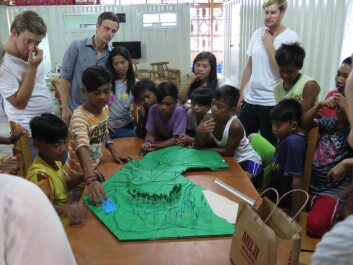 The children in the Streetlight program are helping to plan the rebuild of their centre. (Photo: Workshop/NTNU)
