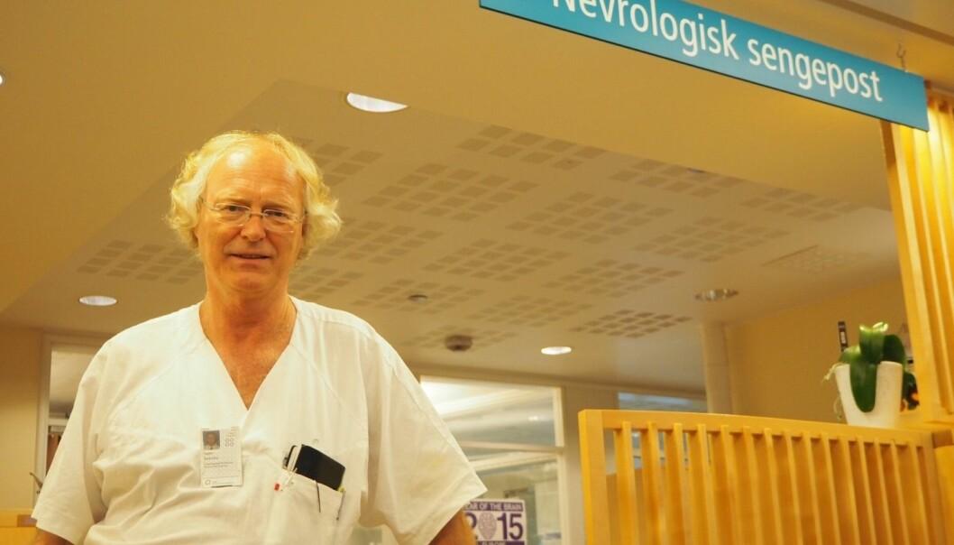 Hjernen står i sentrum for Espen Dietrichs forskning. Derfor er han spesielt interessert i en av verdens kanskje verste hjernesykdommer.  (Foto: OUS)