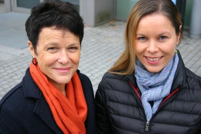 Gro Killi Haugstad ved Høgskolen i Oslo og Akershus og Karen Synne Groven ved Universitetet i Oslo har forsket på kvinners egen opplevelse av å ha vestibulitt, brennende smerte i inngangen til skjeden.  (Foto: Ida Irene Bergstrøm)