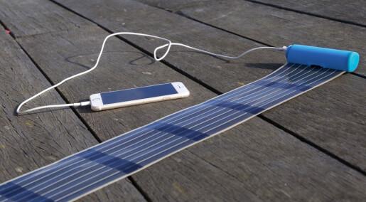 Ny solcellelader får plass i lommen