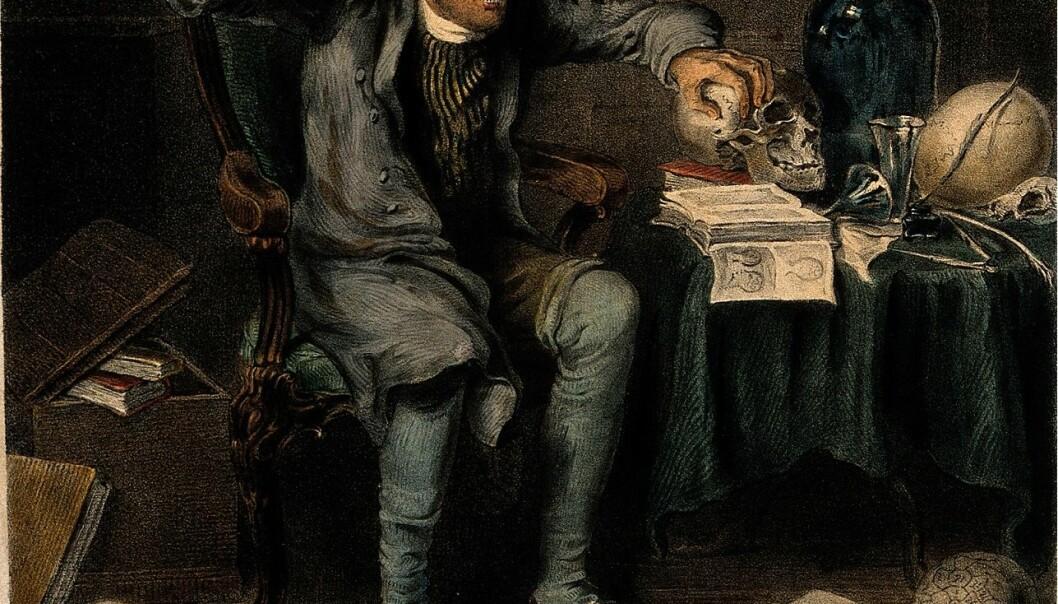 Frenologer påstod at de kunne finne ut alt de trengte å vite om personligheten din, simpelthen ved å kjenne på hodeskallens konturer.  (Bilde: Theodore Lane/Wikimedia Commons.)