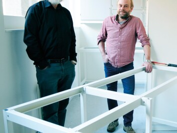 In collaboration with the Natural History Museum and the Museum of Cultural History, Nils Christian Stenseth (left) and Kjetill S. Jakobsen are opening a completely new DNA laboratory that will make it easier to analyze DNA remnants in detritus. The laboratory will be the largest of its kind in Europe. (Photo: Ola Sæther/UiO)