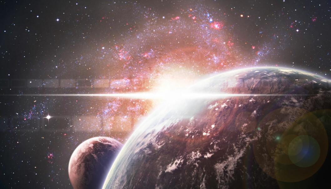 Finnes det liv på andre planeter? (Illustrasjon: Vadim Sadovski, Shutterstock, NTB scanpix)
