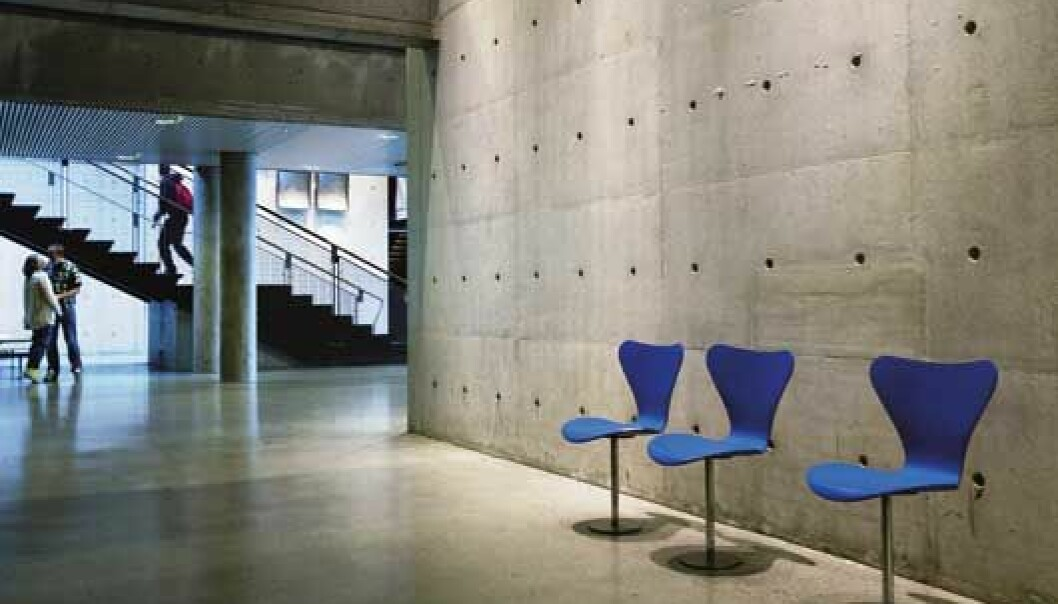 Researchers have developed a new classification system which provides an objective assessment of the aesthetic qualities of concrete. The photo was taken in the Science Building at NTNU. (Photo: Thor Nielsen)
