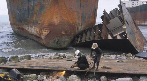 Skipsopphugging slipper miljøgifter ut i lufta