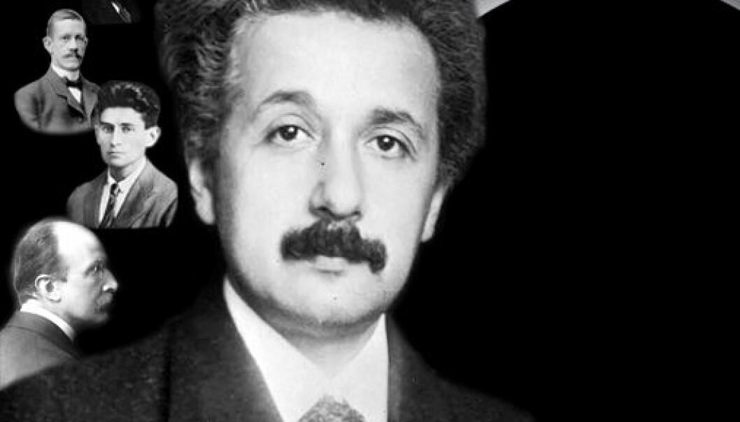 Albert Einstein, Wilhelm Ossen, Allvar Gullstrand, Franz Kafka and Max Planck. (Illustration: Annica Thomsson)