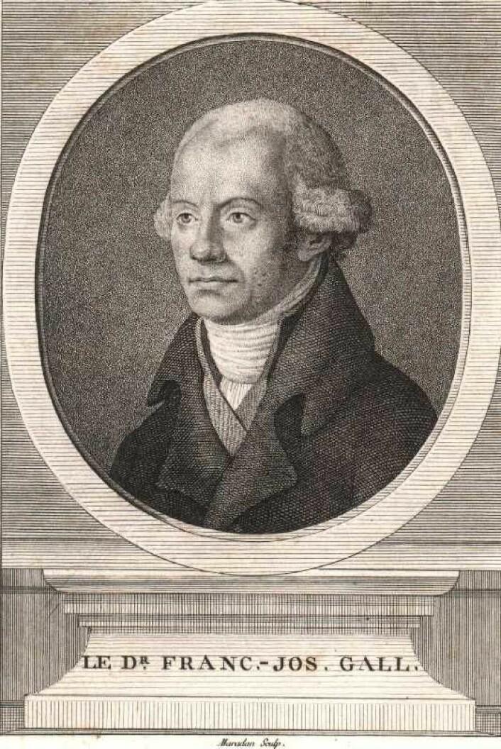 Franz Joseph Gall (1758 - 1828) regnes som frenologiens far.  (Foto: (Bilde: Ukjent opphav/Wikimedia commons.))