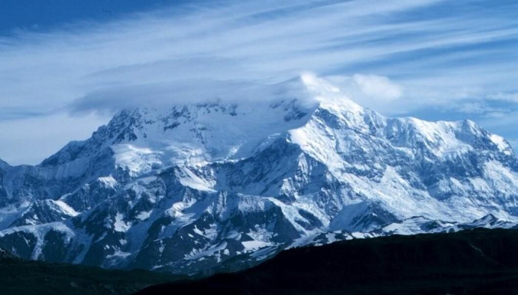 Mount Saint Elias i Alaska. Dette fjellet er en del av fjellkjeden som forskerne har undersøkt. (Foto: NOAA)