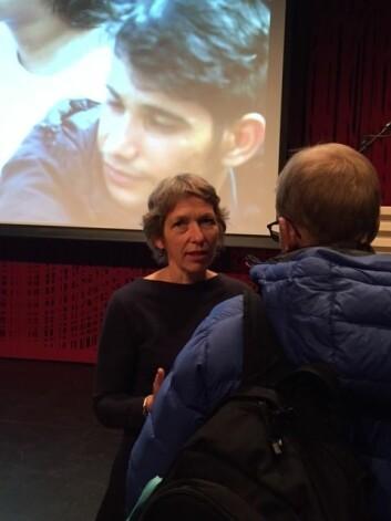 Professor Berit Berg ved NTNU Samfunnsforskning presenterte en rapport om asylbarns levekår den 19. november. (Foto: Siw Ellen Jakobsen)