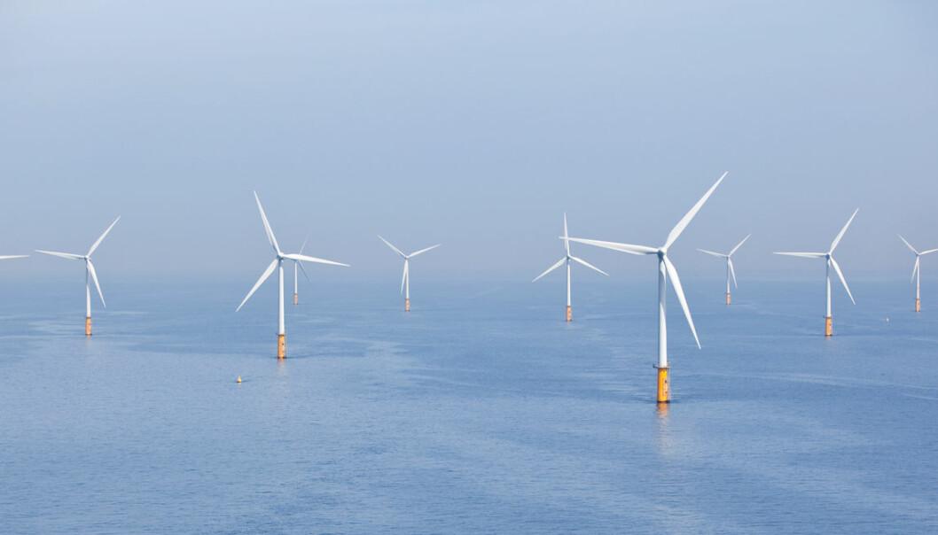 Å bygge ut vindparker til havs gir mulighet for større turbiner som produserer mer energi. (Illustrasjonsfoto: Teun van den Dries, Shutterstock, NTB scanpix)