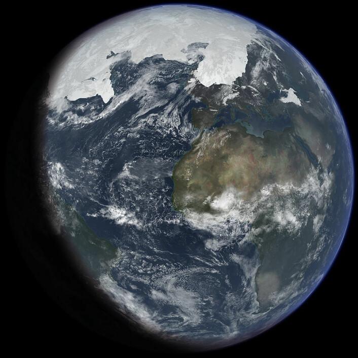 Slik kan jorda ha sett ut da isen var på et maksimum under siste istid. (Foto: (Bilde: Ittiz/CC BY-SA 3.0))