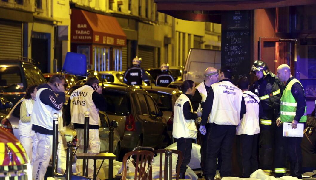 Terroren som rammet Paris fredag kveld den 13. november, drepte minst 129 mennesker og over 300 ble skadd.  (Foto: Philippe Wojazer, Reuters/NTB scanpix)