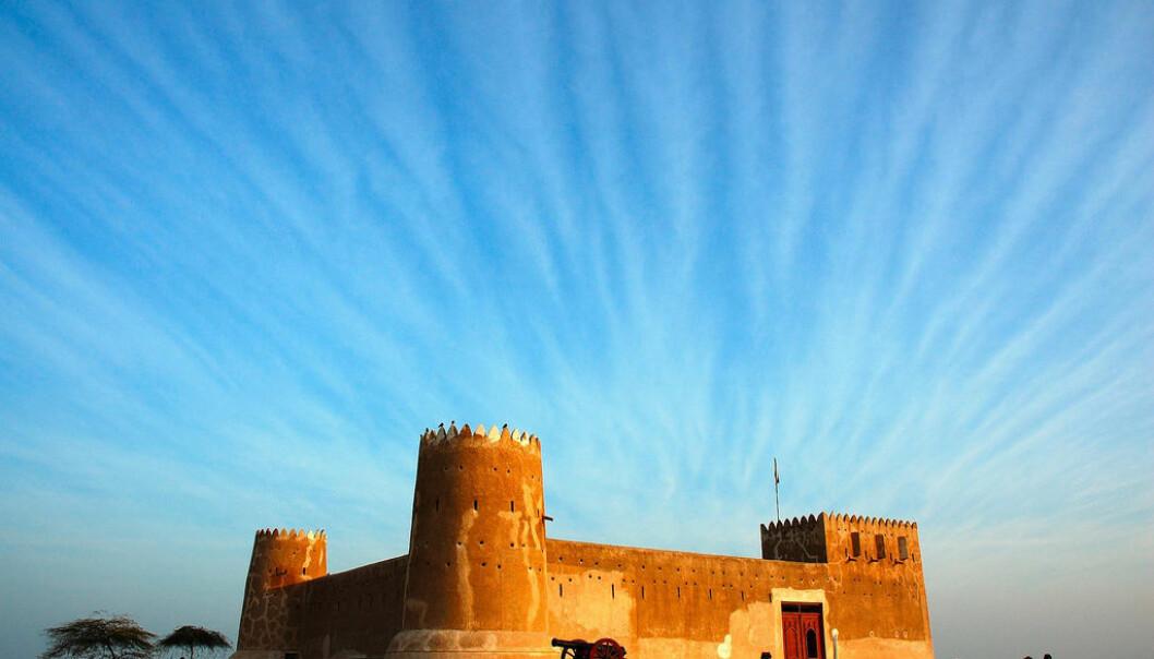 Zubarah Fort ble bygget i 1938 under Qatars leder Sheikh Abdullah bin Qassim Al-Thani. Fortet ligger ved Al-Zubarah og tjener i dag som besøkssenter for turister.  (Foto: Rafeek Qatar)