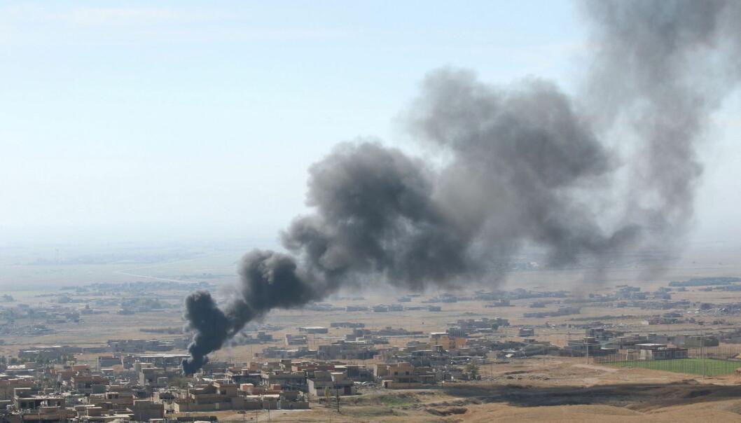 Kurdiske styrker tok nylig tilbake kontrollen over Sinjar i Nord-Irak. Byen har i lang tid vært kontrollert av ekstremistgruppen IS.  (Foto: Ari Jalal, Reuters)