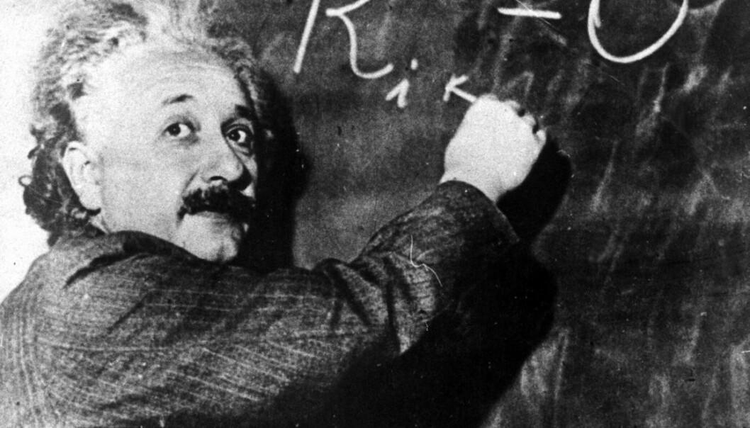Albert Einstein, mannen med det bustete håret og de milde, men levende, øynene, er et symbol på smarthet. (Foto: Scanpix Sverige)